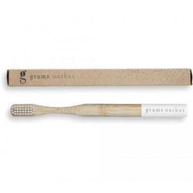 Grums bambus tandbørste - hvid